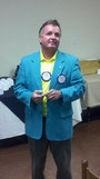 Bobby Fulcher become Assistant Govenor and wears his Rotary jacket.
